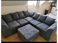SALE ON BRAND NEW LIVERPOOL JUMBO CORD CORNER OR 3+2 SEATER SOFA SET AVAILABL IN STOCK ORDER NOW