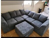 BRAND NEW LIVERPOOL JUMBO CORD CORNER OR 3+2 SEATER SOFA SET AVAILABLE IN STOCK ORDER NOW