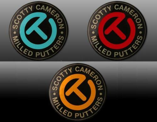 Scotty Cameron Circle-T Milled Putter Sticker (Blue. Red, Orange) - 1.96 inch
