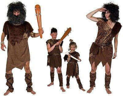 Kostüm Steinzeit-Mensch Neandertaler Damen Herren Kinder Familie Karneval - Steinzeit Kostüm Kinder
