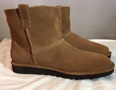 UGG Classic Mini Unlined Booties in Chestnut  Size 8 Woman's 100% Authentic New