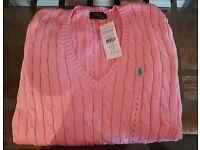 Brand new original women's Ralph Lauren jumper size L