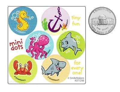 60 Sea Life Dot Stickers Kid Ocean Creatures Beach Party Goody Bag Favor - Life Dot