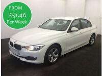 £51.46 PER WEEK 2012 BMW 320 2.0TD EfficientDynamics 4 DOOR DIESEL MANUAL