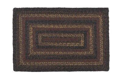 IHF Home Decor Rectangle Braided Area Rug Slate 4'x6' Floor