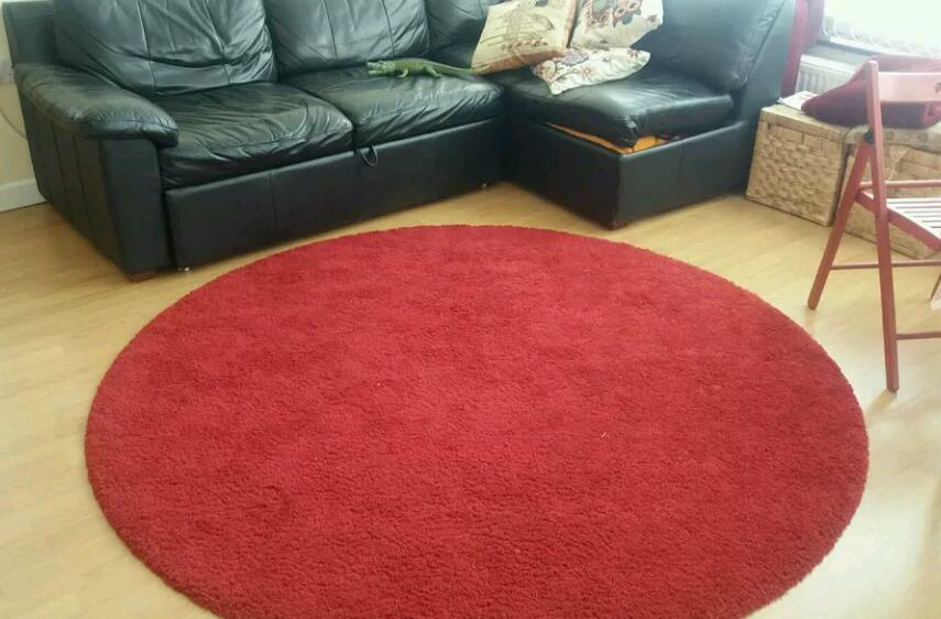 Adum Ikea Red Round Carpet Rug In Ruislip London