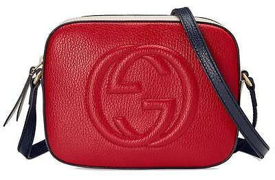 NEW GUCCI CURRENT SOHO TEXTURED LEATHER SHOULDER CROSS BODY BAG