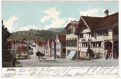 Heiden Kt. Appenzell Ausserrhoden, Straßenpartie im Dorf 1910