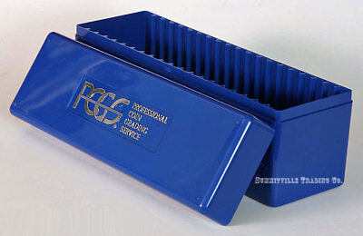 PCGS ORIGINAL BLUE STORAGE BOX - HOLDS 20 GRADED SLABBED COINS