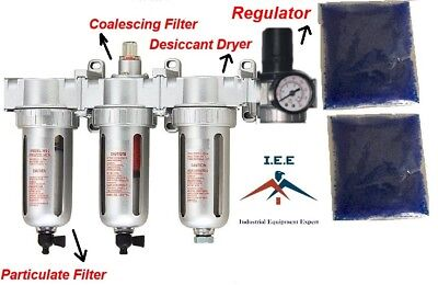 12 Compressed Air Filter Desiccant Dryer Good For Plasma Cutter Regulator