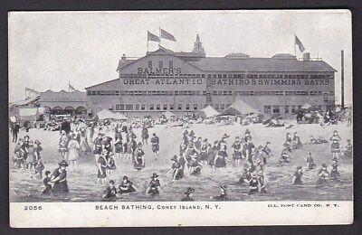 USA NY NEW YORK Coney Island Beach Bathing c1902 u/b PPC