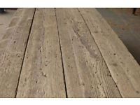 Old wood / reclaimed timber floorboards