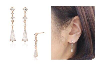 Stone Henge Silver Earrings SC1122 Silver 925 Rose Gold Cubic Zirconia