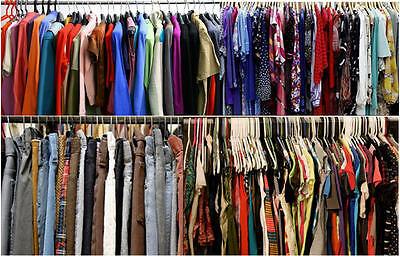 50PC PLUS SIZE Mixed Women's Wholesale Clothing Lot RESALE THRIFT BOUTIQUE