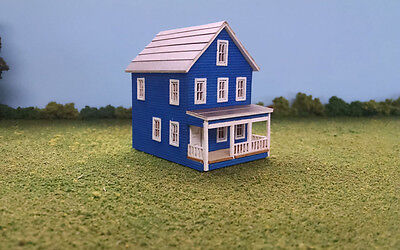 Scale Two Story House - HO Scale Laser Cut 20th Avenue Two Story House Kit