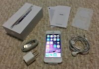 iPhone 5 32GB White, BRAND NEW phone with factory accessories