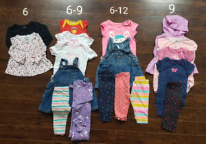 6-9 Month Baby Girl Clothing Lot