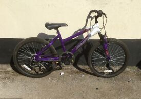 "GIRLS MOUNTAIN BIKE 22"" WHEELS £35"
