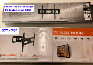 TV Mounting and Installation RG6  Network Cable CAT 5E CAT 6