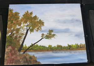 Canadian Artist Earl K. Hunter Signed Oil Painting on Canvas