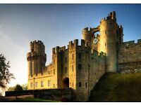 Warwick castle entry ticket 31stAug