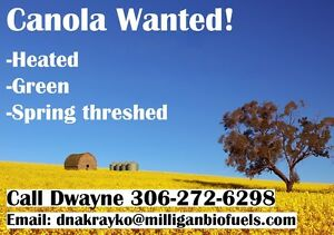 Canola Wanted. All damaged varieties Heated/Green/SpringThreshed