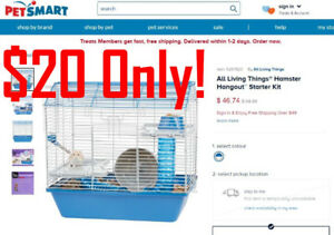 All Living Things Hamster Mouse Hangout Metal Pet CageAll Livin