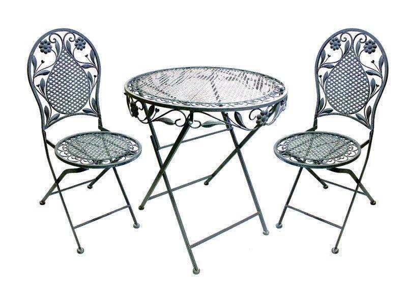 Sitzgruppe Aldeano Tischgruppe Metall Eisenmöbel