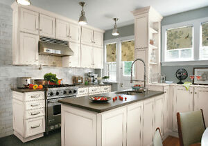 Sale for custom kitchen cabinets, vanity, closets made in Canada