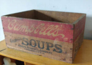 Campbell's Soup collectible soup crate - vintage