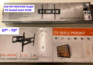 TV Mounting and Installation RG6 or Network Cable CAT 5E CAT 6