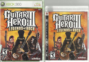 Guitar Hero 3 Legends of Rock for XBOX 360 and PS3 - $15 each