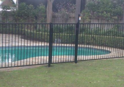 Pool fence gates with two posts, Magna Latch self closing hinges Osborne Park Stirling Area Preview