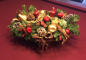 Christmas centrepiece with candles