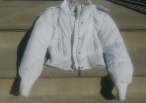 Manteau hiver blanc femme small