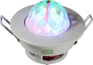 RGB Full Color LED Sound Active Rotating Ceiling stage light Bul