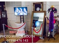 Magic Selfie Mirror Photo Booth Hire, Party picture booth