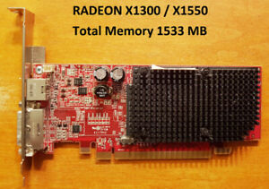 amd radeon x1300/x1550 driver windows 10
