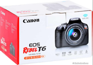 ★Canon EOS REBEL T6 with 18 -55 lens KIT★1YEAR WARRANTY★