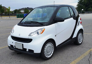 2010 Smart Fortwo Pure Coupe (2 door) with winter tires on rims