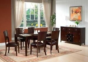 SOLID WOOD CERAMIC INLAY DINNING TABLE FOR 799$ WITH 6 CHAIRS