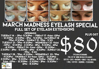 March Madness $80 Eyelash Extensions !!!
