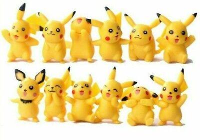 12 Pcs Random Pokemon Pikachu Mini Monster Figures Toy Set USA SELLER