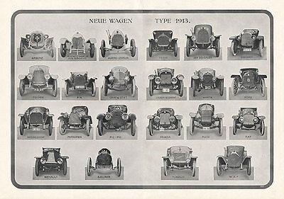 Neue Wagen 1913 Berna Laurent Marta Puch Praga WAF Plakat Braunbeck Motor A2 459
