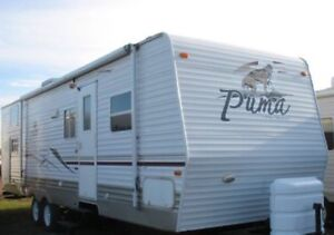 2006 31' Puma travel trailer with bunkroom