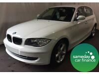 £174.14 PER MONTH WHITE 2009 BMW 116 2.0 M SPORT 5 DOOR DIESEL MANUAL