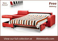 sectional sofa and chaise with hide-a-bed and storage ON SALE