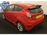 2016 RED FORD FIESTA 1.0 ECOBOOST 140 ZETEC S 3DR HATCH CAR FINANCE FR £33 PW