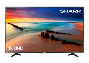 "Sharp 55"" 4K UHD HDR LED Roku Smart TV"