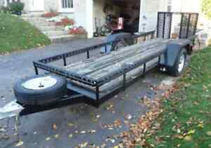 14 FT TRAILER ATV UTILITY TRAILER WITH EASY LOAD RAMP